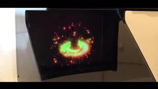 소형홀로그램 디스플레이 영상(위세임, 위인프로젝트)