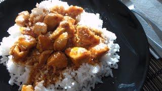 Honey Sriracha Chicken With Rice