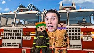 Wir retten eine KATZE auf einem BAUM ☆ Feuerwehr Simulator MULTIPLAYER