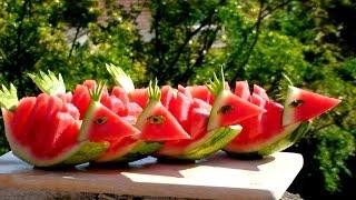 Art In Watermelon Birds | Fruit Carving Garnish | Watermelon Art | Party Garnishing