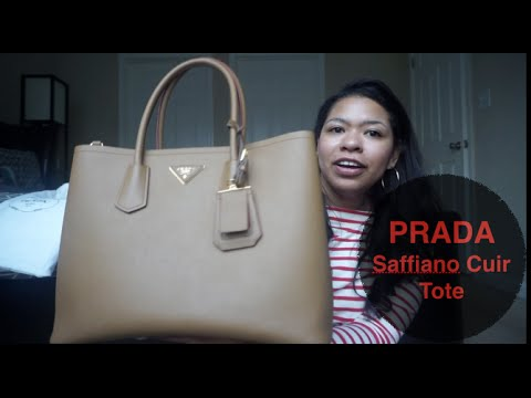 PRADA Saffiano Cuir Medium Double Bag - YouTube