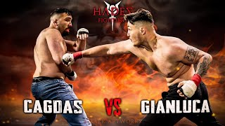 TÜRKISCHER MMA Fighter vs. ITALIENISCHER Bareknuckle Boxer! Cagdas vs Gianluca - HADES FIGHTING 1