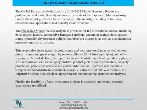 Global Expansive Mortar Market Professional Survey Report 2016