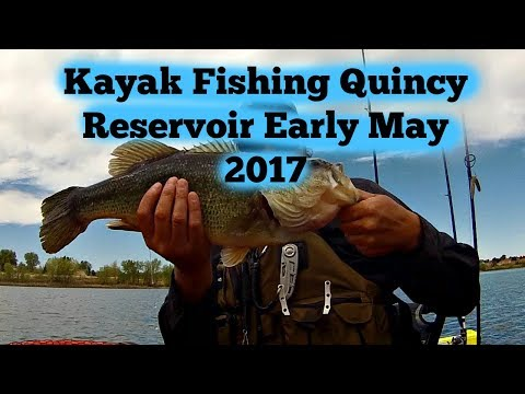 Kayak Fishing Quincy Reservoir Early May 2017