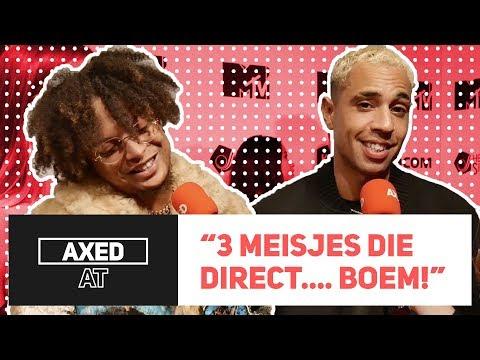 GEKSTE FAN MOMENT VAN RONNIE FLEX, BIZZEY & MAAN | AXED AT MTV EMA PRE-PARTY