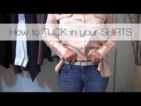 4 Ways To Tuck In Your Button Up Shirt Youtube