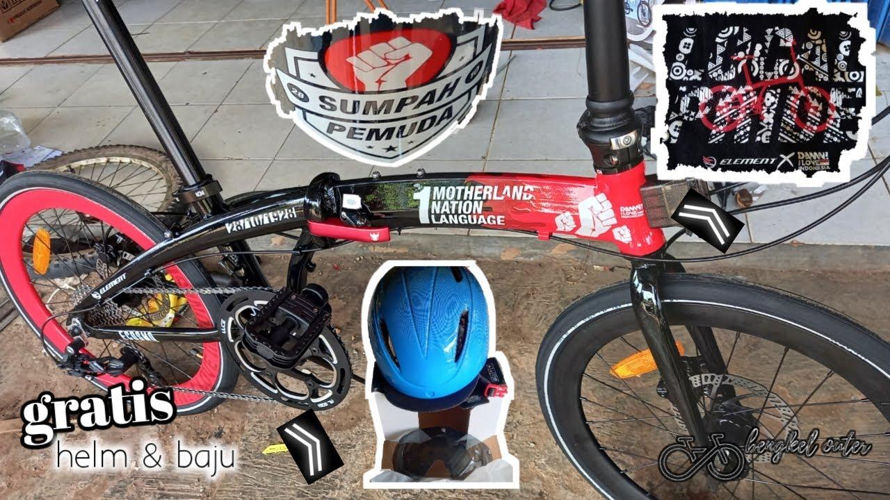 Sepeda Lipat Edisi Sumpah Pemuda Element Ecosmo Special Edition Sepeda Lipat 6 Jutaan Youtube