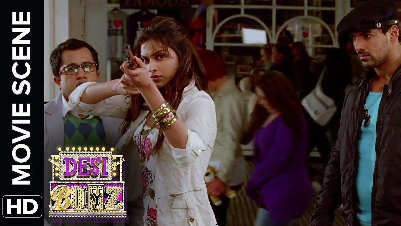 John Threatens Deepika S Date Desi Boyz Movie Scene