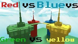 Red Vs Blue vs Green Vs Yellow Roblox gameplay