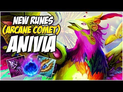 NEW RUNES ANIVIA (ARCANE COMET) - PreSeason 8 | League of Legends