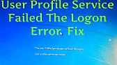 dell inspiron 1525 user profile service failed logon