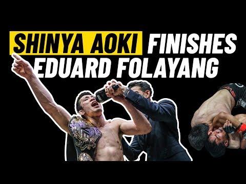 Shinya Aoki's LEGENDARY Finish Of Eduard Folayang