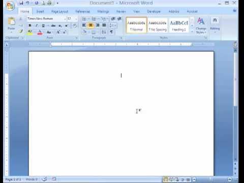 APA formatting Microsoft Word 2007mp4 - YouTube