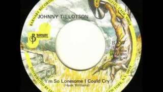 Watch Johnny Tillotson Im So Lonesome I Could Cry video
