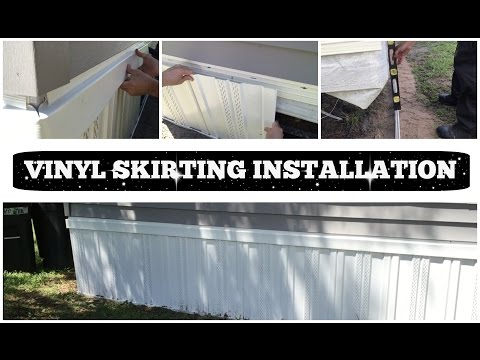 VINYL SKIRTING INSTALLATION | HOW TO DO IT YOURSELF