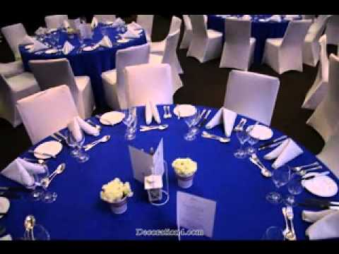 Great Royal blue wedding decorations ideas - YouTube