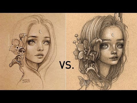 REDRAWING MY OLD ART 🎨 Drawing Timelapse thumbnail