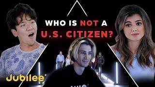 Xqc Reacts To 6 U.s. Citizens Vs 1 Secret Non-citizen - Jubilee Odd Man Out