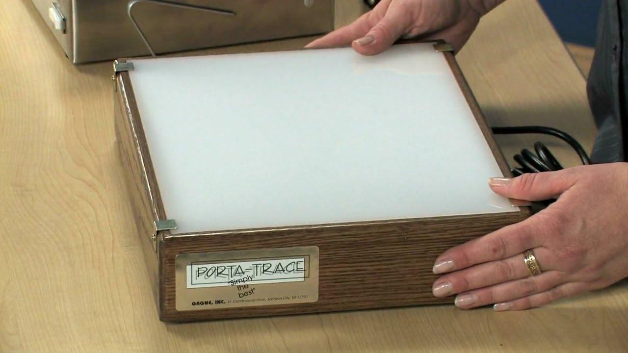 Gagne Porta Trace Light Boxes Youtube