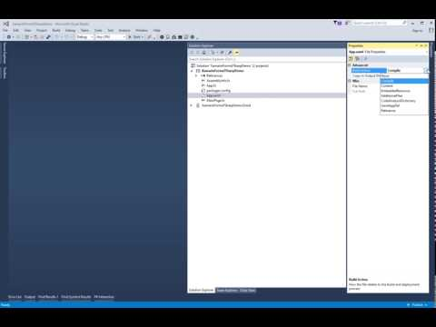 Set Build Action on a Xaml File to EmbeddedResource - YouTube