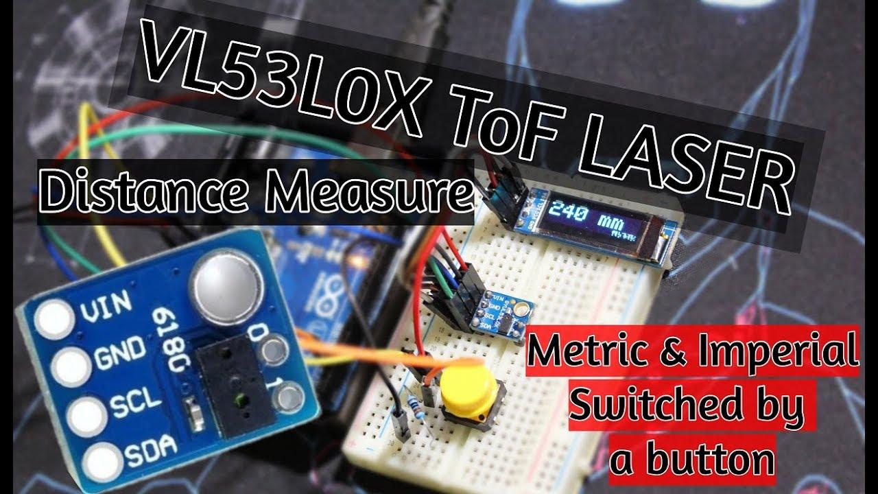 Measure distance using VL53L0X ToF LASER Range sensor +