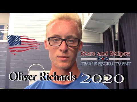 Oliver Richards :U.S College Tennis Recruitment 2020 (feat: Archie Graham)