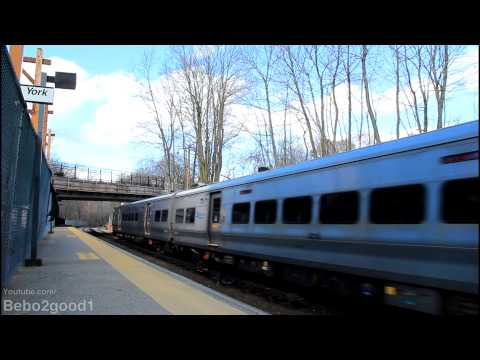 Metro-North RR [Harlem]: Three Trains at Scarsdale, NY RR [M3A, M7A, P32]