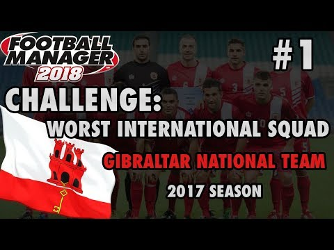 ⚽ Ep. 1 World Cup European Qualifying vs Estonia | Gibraltar National Team | Football Manager 2018