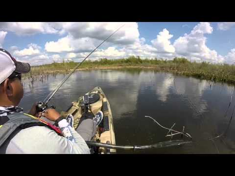 Kayak bass fishing lake conroe texas youtube for Lake conroe fishing report