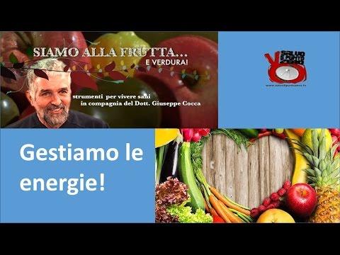 Gestiamo le energie! Siamo alla frutta...e verdura con il dottor Giuseppe Cocca. 9a Puntata