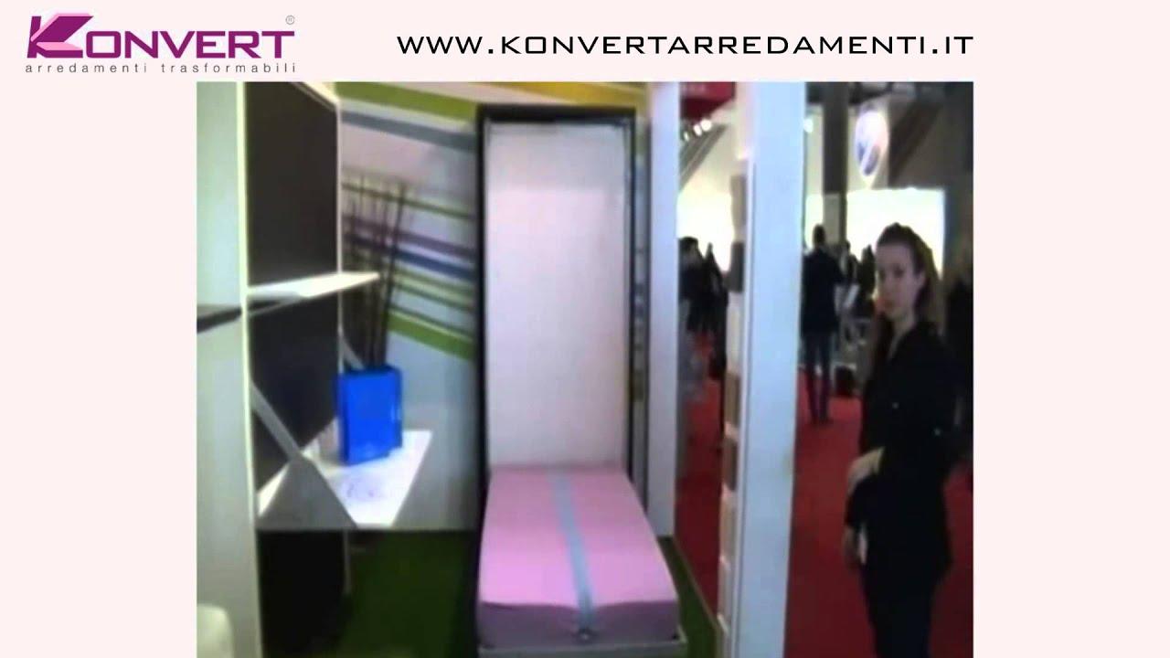 Letto Libreria Girevole : Letto a scomparsa smart beds singolo girevole colombo youtube