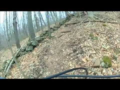 Mountain Biking at Tyler Mill in Wallingford CT 3-15-2012.wmv