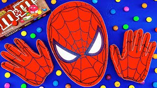 Funny Satisfying Video | Full ASMR Bath Spiderman & 2 Hands with Magic Slime & Rainbow Candy Cutting