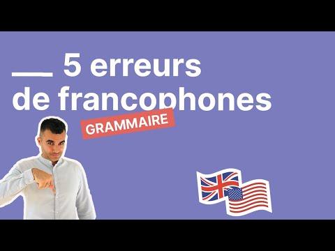 5 (grosses) erreurs en anglais que font toujours les francophones