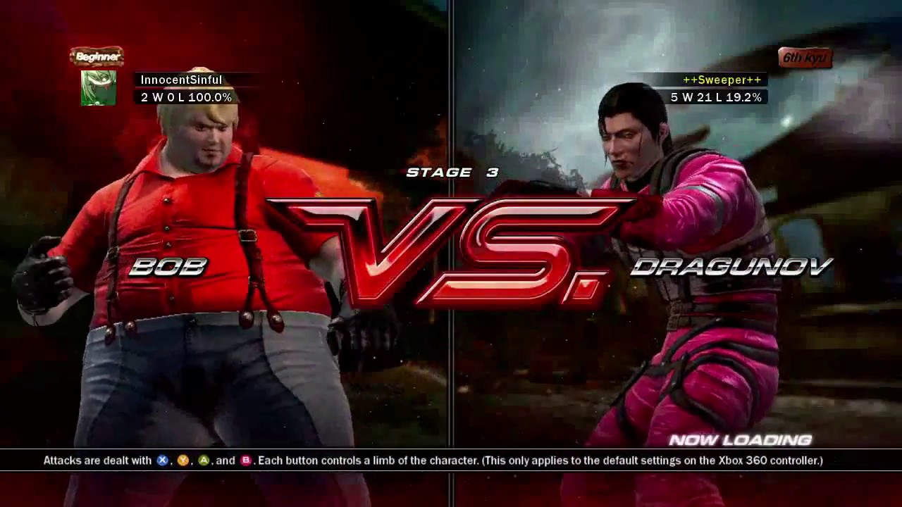 Tekken 6 Xbox 360 Arcade Battle As Bob Youtube