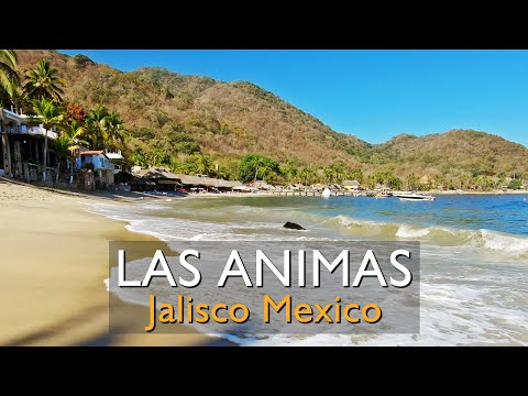 Walking along Las Animas Beach south of Puerto Vallarta Mexico