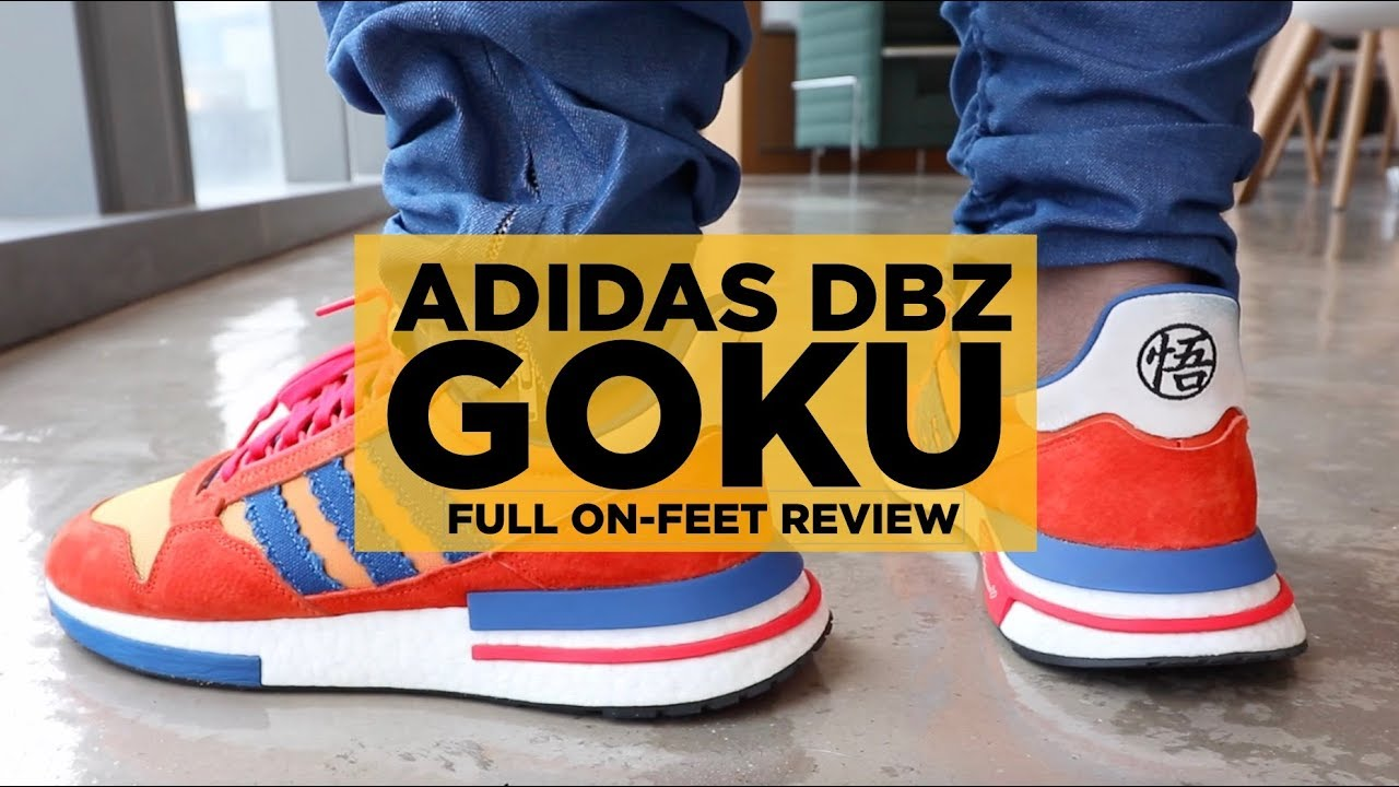 12caae966dcca ADIDAS x DBZ GOKU ZX 500 RM FULL ON-FEET REVIEW - YouTube