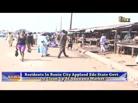 Residents applaud EDSG on clean up at Aduwawa Market