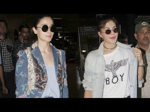 SPOTTED- Alia Bhatt, Sidharth Malhotra, Jacqueline Fernandez at the Airport | SpotboyE