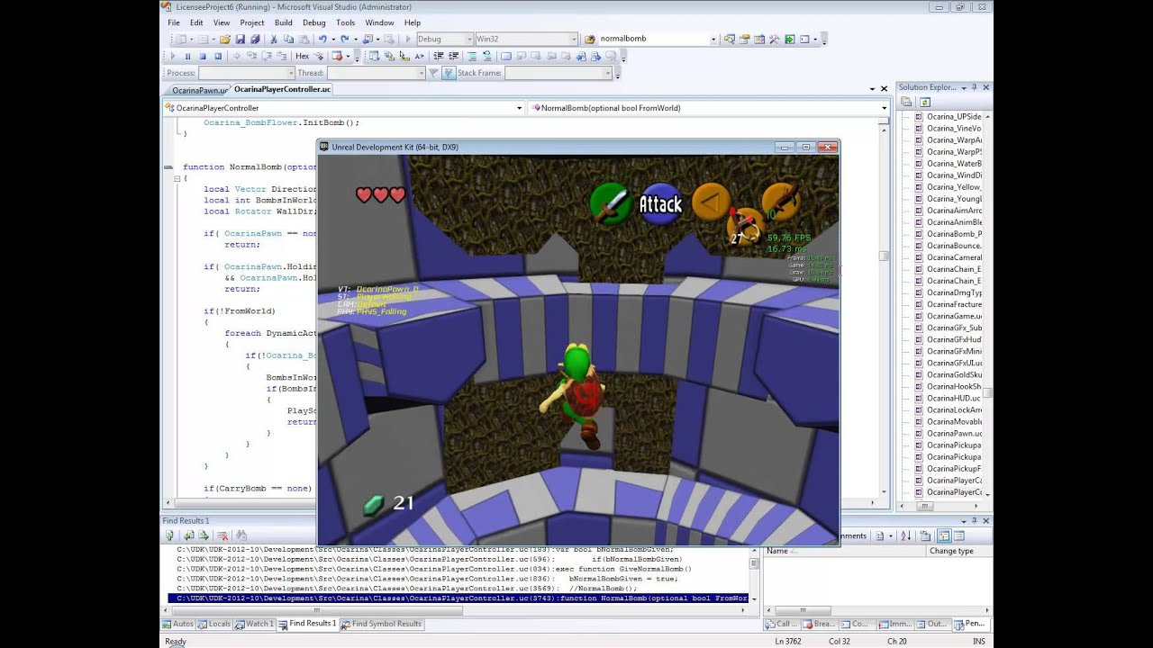 UDK Ocarina OoT GamePlay test_0