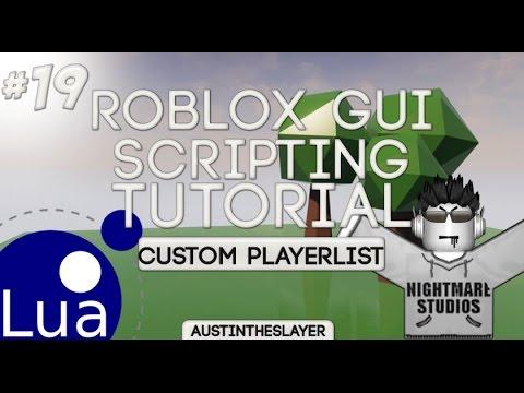 ROBLOX Lua Gui Scripting Tutorial 19 - Custom PlayerList