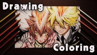 Drawing & Coloring Anime ( Tsuna and Giotto )
