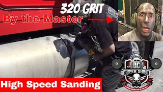 DIY polishing a badly oxidized/pitted fuel tank - high speed sanding