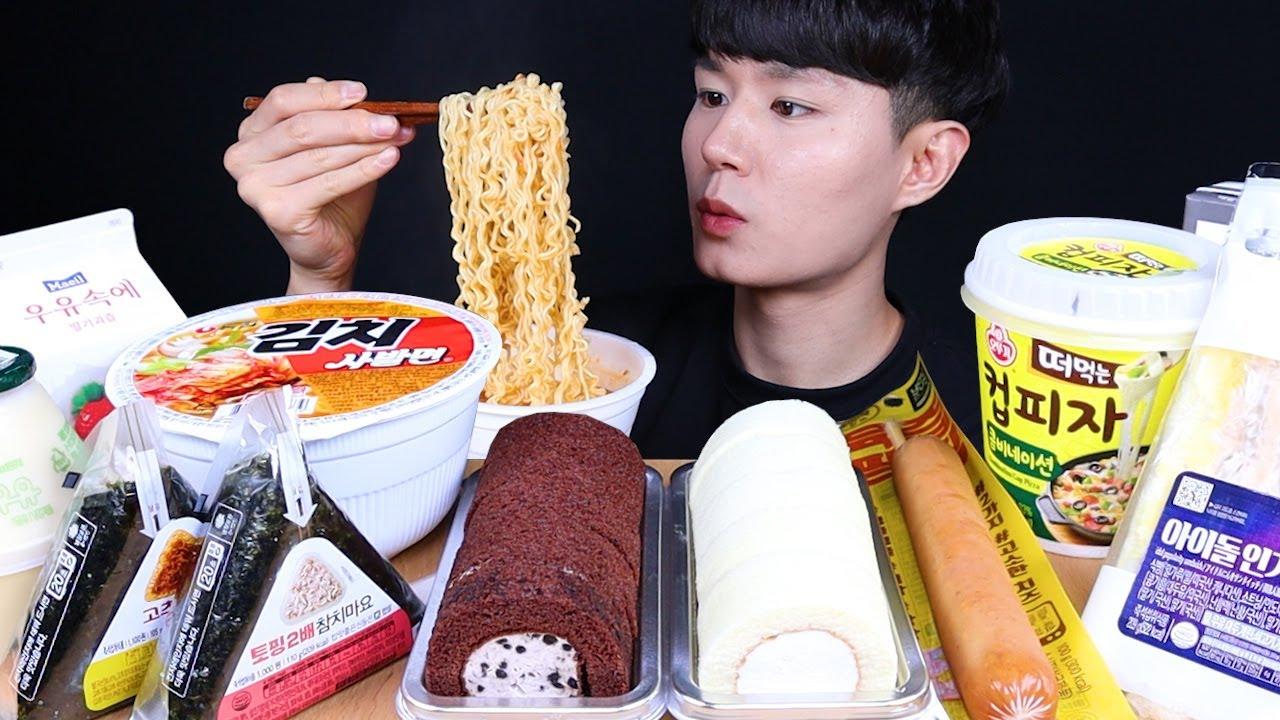 편의점 디저트 먹방ASMR MUKBANG Korean Convenience Store Food & DESSERT 韓国のコンビニフード デザート eating sounds