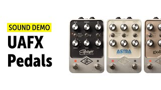 UAFX Golden Reverberator, Starlight Echo Station, and Astra Modulation Machine with Synths