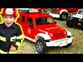 Bruder Trucks Surprise Toy Unboxing Fire Engine Jeep Playing With Toys mp3