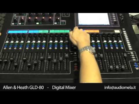 audiomela allen heath gld 80 professional digital mixer youtube. Black Bedroom Furniture Sets. Home Design Ideas