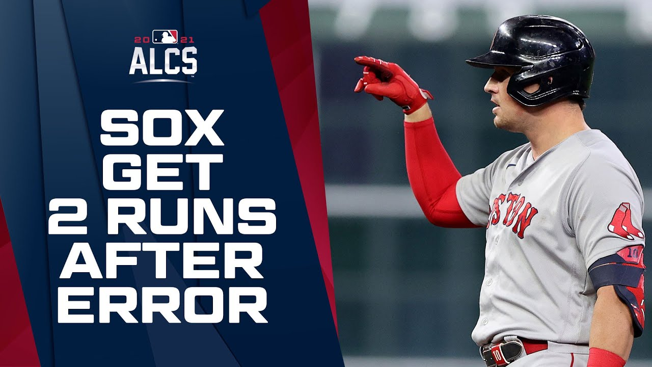 Red Sox get 2 BIG runs after capitalizing on Astros' error in ALCS Game 1!