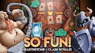 HEARTHSTONE MEETS CLASH ROYALE!! [Wagers of War] Gameplay