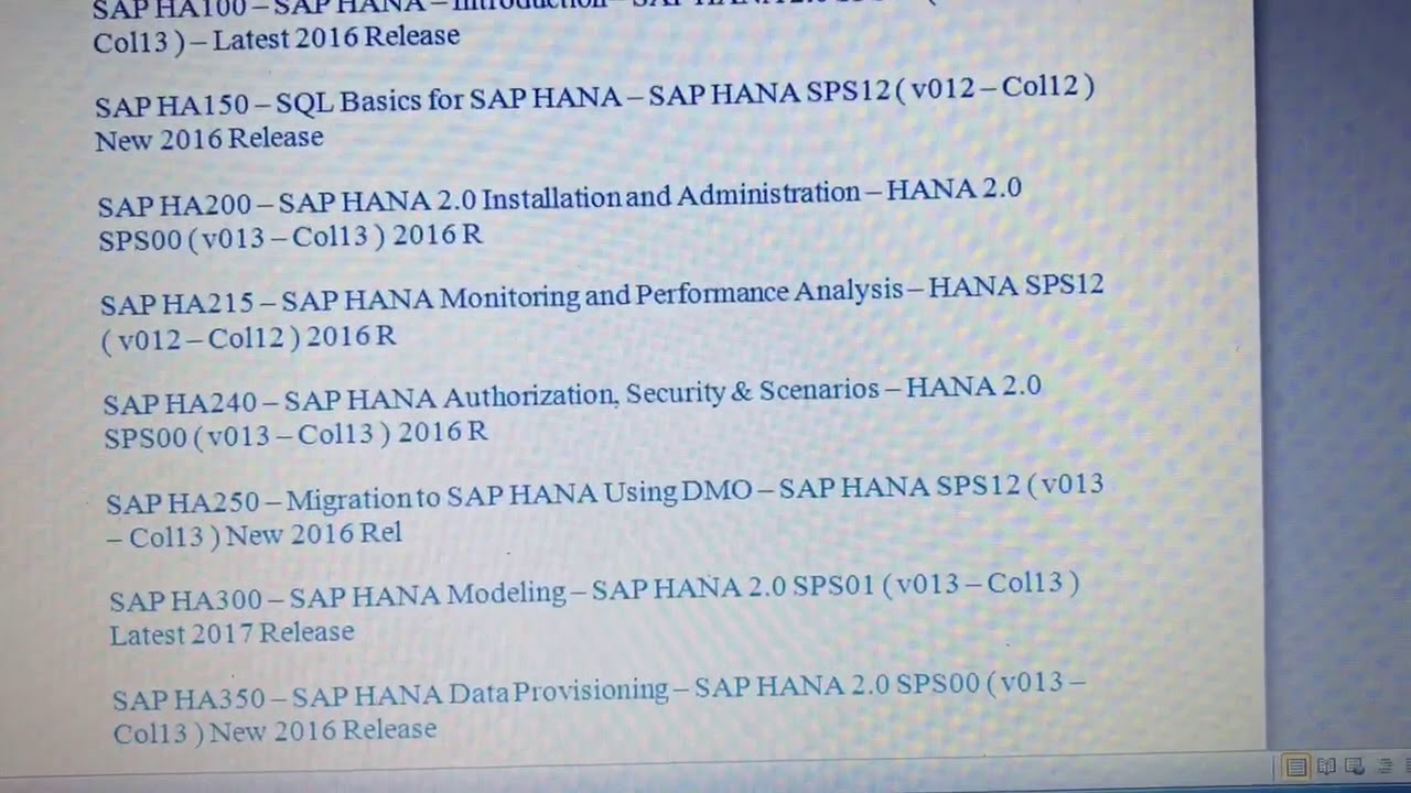 Sap Hana Certification Materials Download Youtube